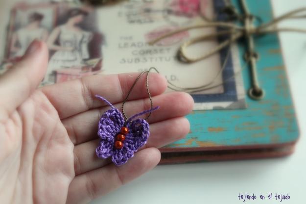 Colgante mariposa crochet 2